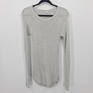 Lululemon M Gray Cabin Yogi Long Sleeve Sweater
